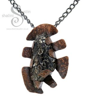Turritella Agate Rock Pendant CREATURE FROM THE DEEP