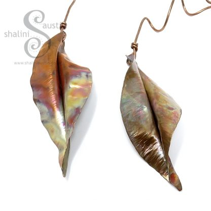 Small Decorative Copper Leaf Sculpture | Handmade to Order