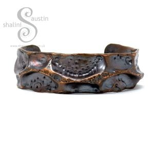 Antique Finish Rustic Copper Pipe Cuff FANTASY 3