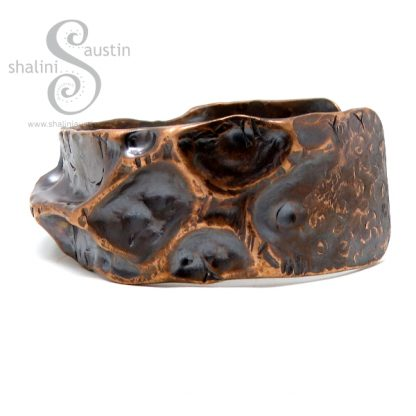 Upcycled Rustic Copper Cuff FANTASY 5
