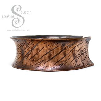 Anticlastic Copper Cuff SCRATCHED