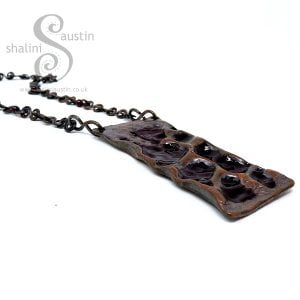 Upcycled Air-chased Copper Pipe Pendant SHADOWS 1