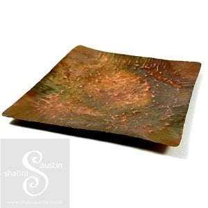 Copper Trinket Tray: Square Dish