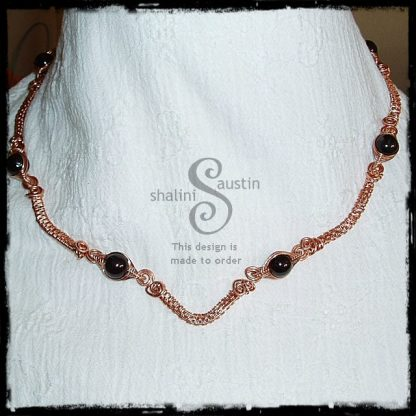 Handmade to Order – Wire Weave Necklace SUZANNE