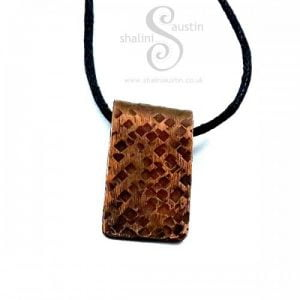 Small Textured Copper Pendant