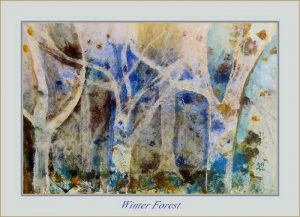 Wall Art WINTER FOREST