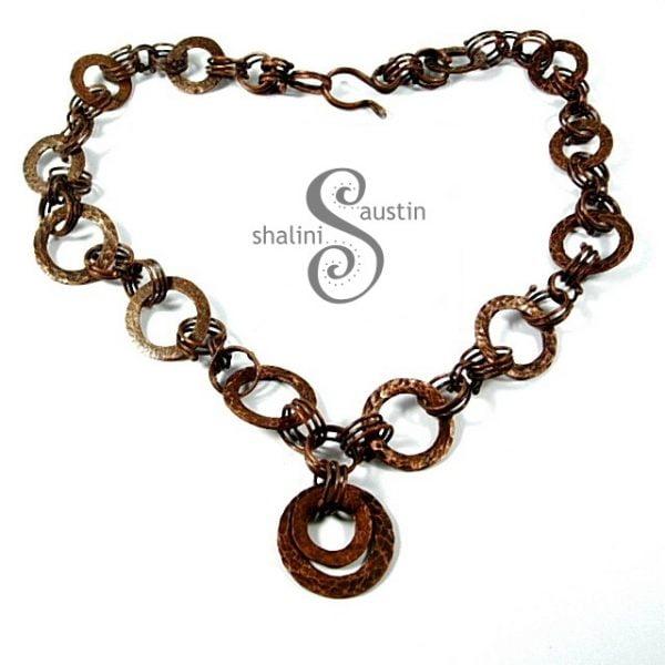 Copper Circles Necklace 01