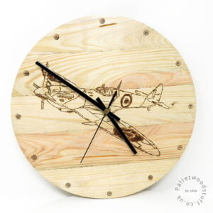 Pallet Wood Clock SPITFIRE   Made to Order