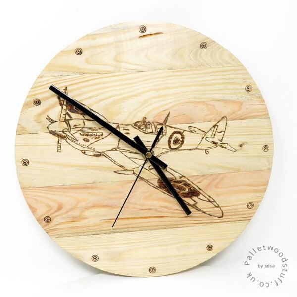 Pallet Wood Clock SPITFIRE | Made to Order