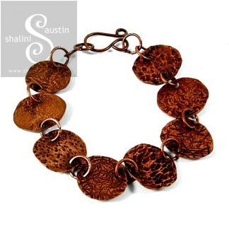 Hand Fabricated Textured Copper Bracelet