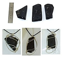 St Helena Rock Pendants wrapped in Sterling Silver