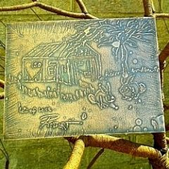 Etched Copper Plaque
