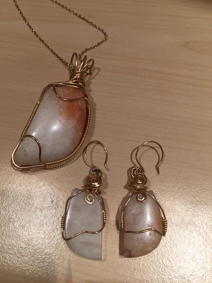 Bespoke Rock Pendants: Wire Wrapped Rock Jewellery