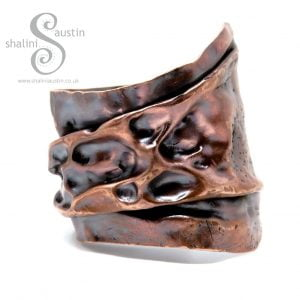 One-Off Unisex Salvaged Copper Cuff LUNAR