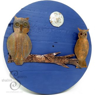 FIRST DATE Copper Owls Wall Art