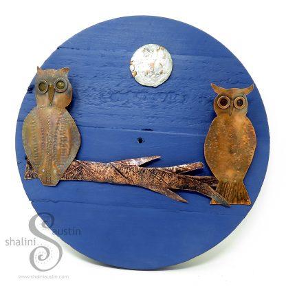FIRST DATE Copper Owls Wall Art