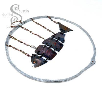 Copper Fish In Aluminium Ring by Shalini Austin