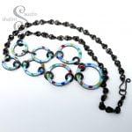 Enamelled Copper Necklace TUTTI FRUTTI – Sky Blue