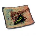 Enamelled Copper Trinket Tray (01)