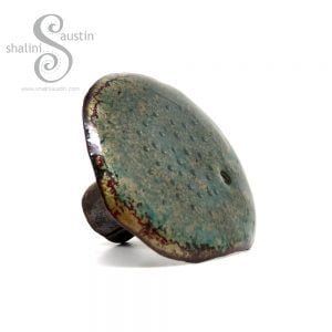 Decorative Enamelled Copper Mushroom - Indoor / Outdoor