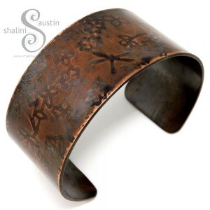 Embossed Copper Cuff HEDGEROW