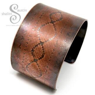 Embossed Copper Cuff LACE