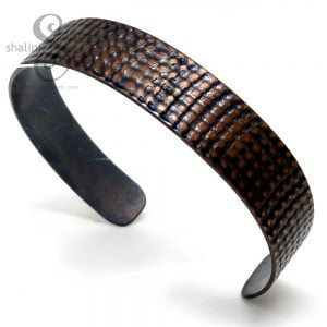Large Embossed Copper Cuff HESSIAN