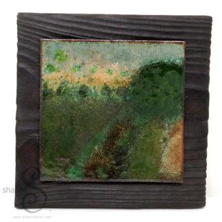 Somewhere Near Stamford 02 | Enamelled Copper Wall Art