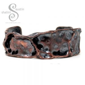 Upcycled Copper Pipe Cuff FANTASY (07)