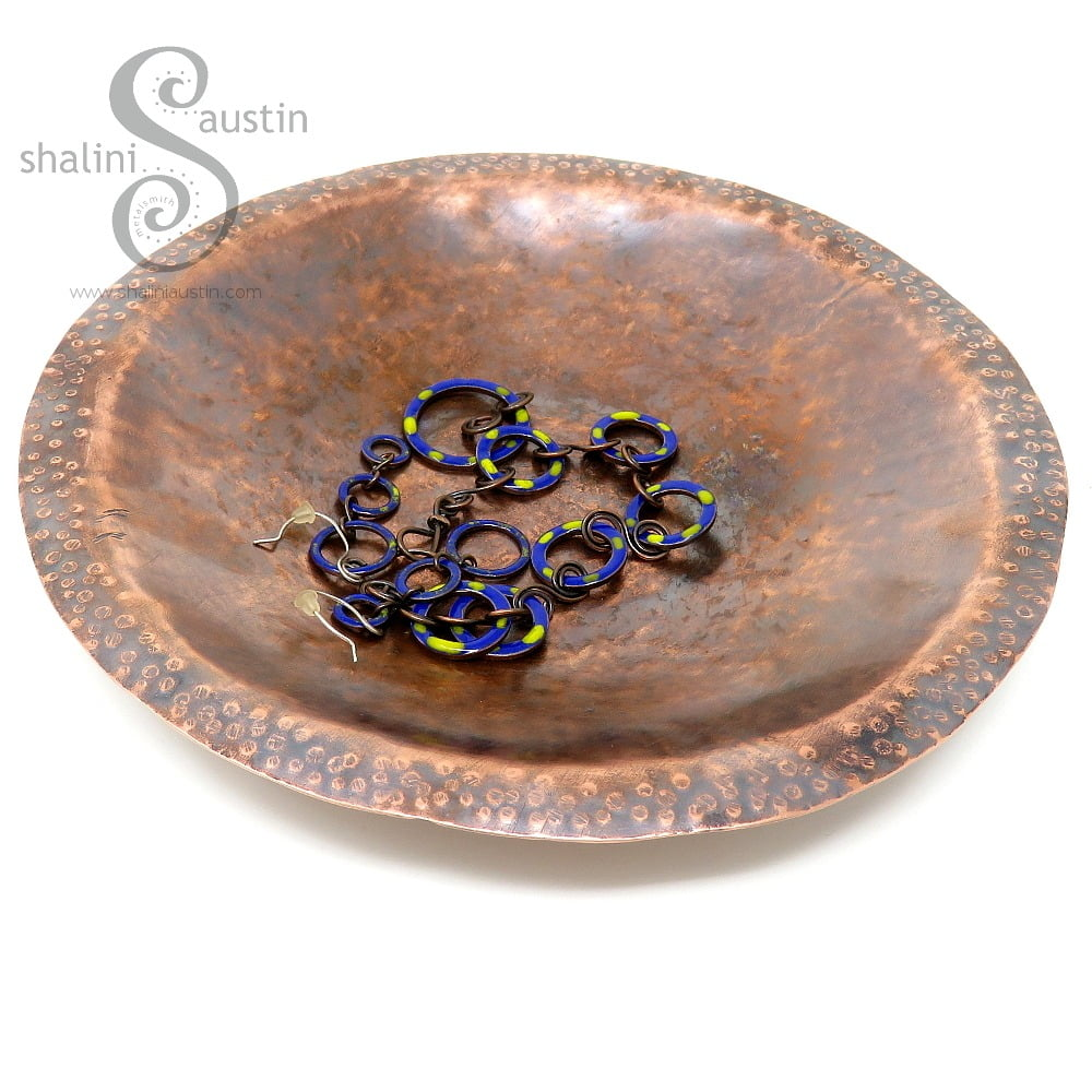 Hammered Reclaimed Copper Bowl