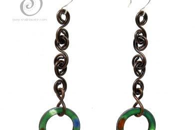 Grass Green Copper Earrings TUTTI FRUTTI