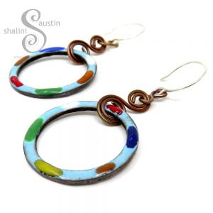 TUTTI FRUTTI Sky Blue Copper Earrings