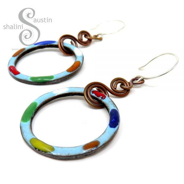 TUTTI FRUTTI Sky Blue Copper Earrings