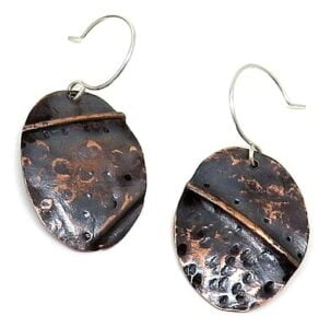 Fold Formed Copper Earrings