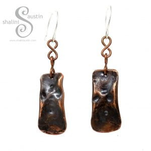Antique Finish Copper Earrings