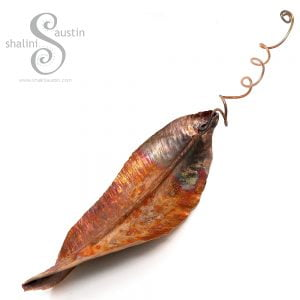 Decorative Copper Leaf Sculpture 01