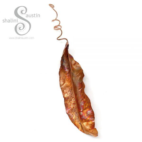 Decorative Copper Leaf Sculpture 02 | Indoor & Outdoor