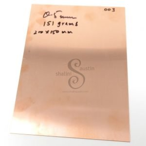 Copper Sheet Offcut 0.5mm (003) | 24 gauge SWG | 210 X 150 mm