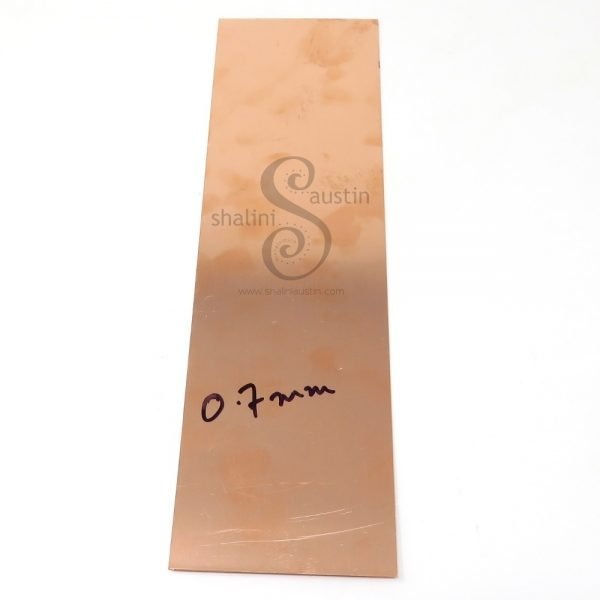 Copper Sheet Offcut | 0.7mm | 22 gauge SWG | Various Sizes Individually Priced