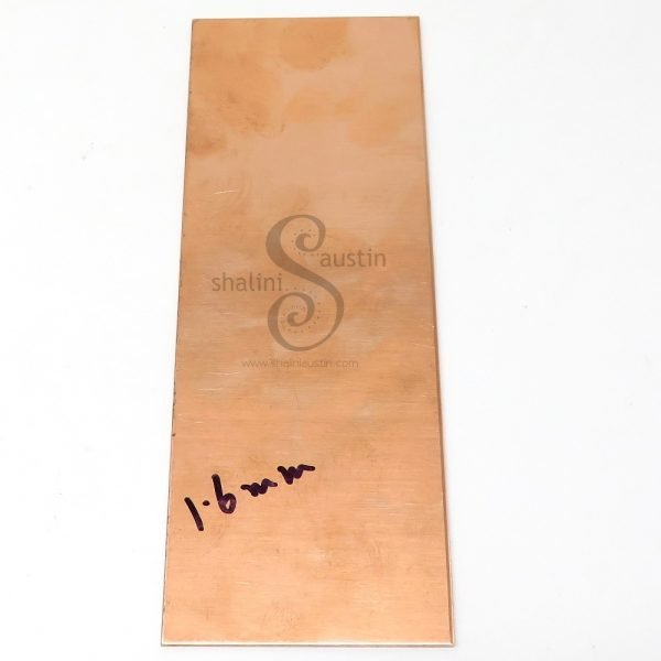 Copper Sheet Offcut 1.6mm   16 gauge SWG   Various Sizes Individually Priced