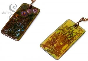 One-Off Enamelled Copper Pendant | ABSTRACT
