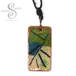 Abstract Enamelled Copper Pendant | THATAWAY (01)