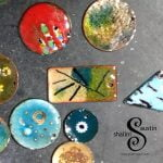 Abstract Enamelled Copper Pendant | THATAWAY (01) - Enamelled copper Pendants made in Lincolnshire