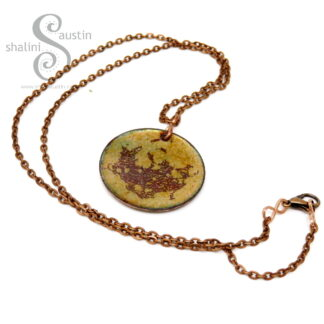 Fire-scale Pattern Copper Pendant | ABSTRACT 02