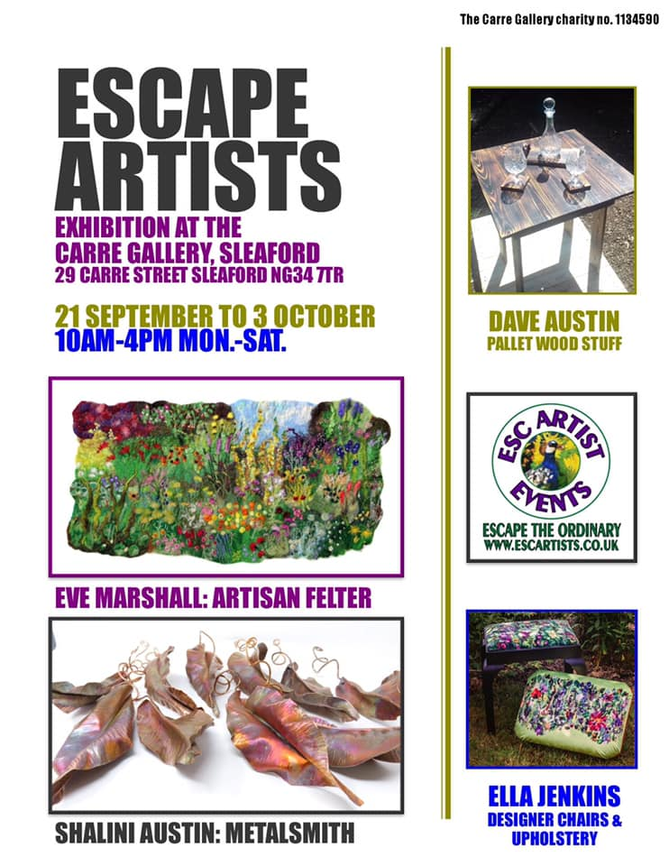Art Exhibition at Carre Gallery Sleaford featuring 4 artists