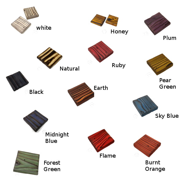 Colour chart for palletwood based for flower trinket tray