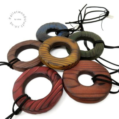 Colourful Rustic Palletwood Pendants