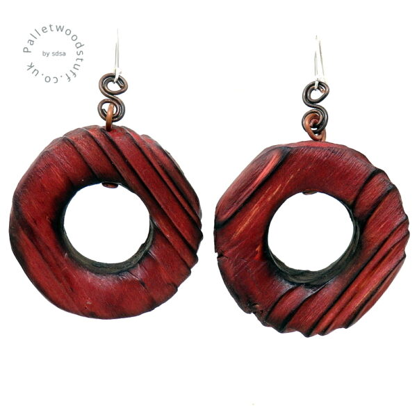 Rustic Wooden Earrings | Ruby | Made from Palletwood