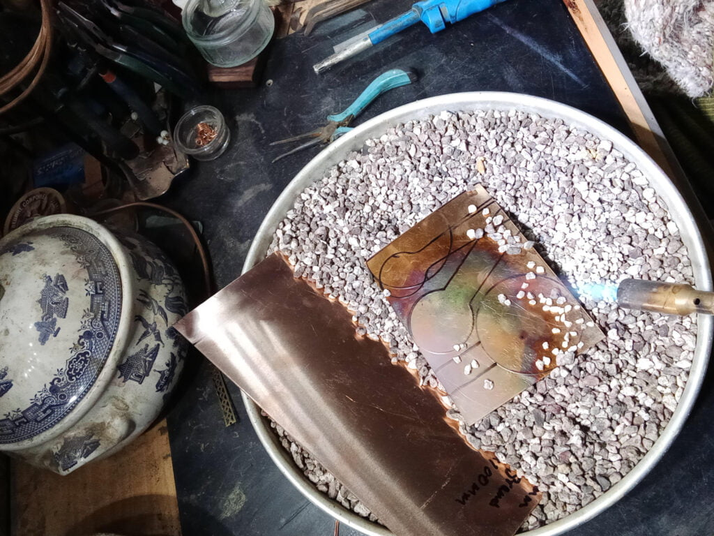 Work in Progress | 5 January 2021 - Making Copper Moons and measuring spoons