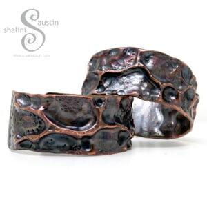 Wide Copper Cuff Bracelet FANTASY | Made to Order